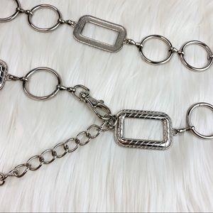 Vintage Square Loop Silver Belt